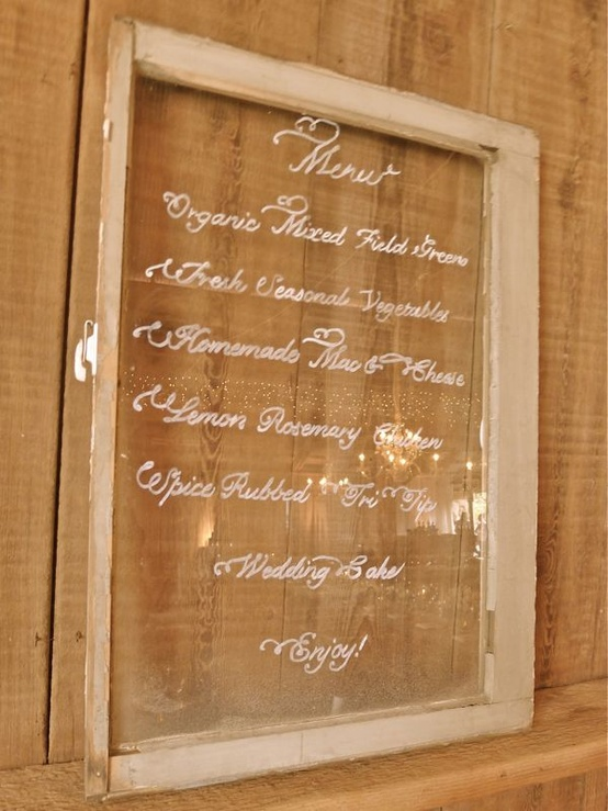 glass menu