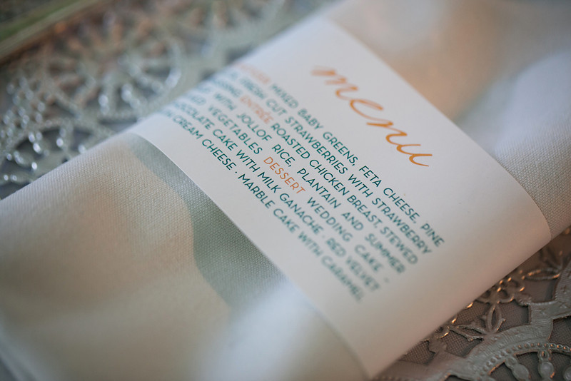 napkin holder menu