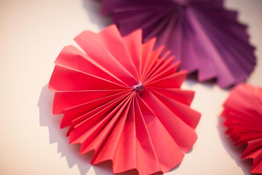 pink paper rosette