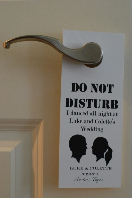 do not disturb door tag