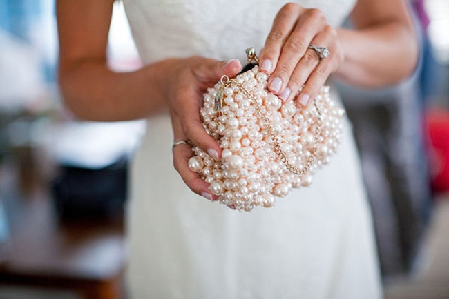beaded bride clutch