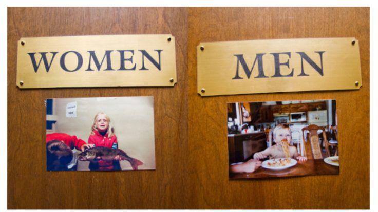 photo bathroom door signs