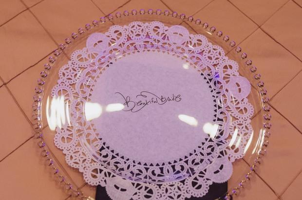 beautiful bride paper doillie