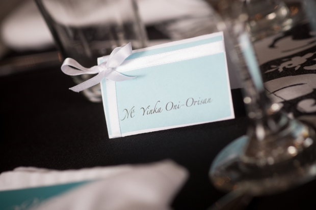 Tiffany themed place cards