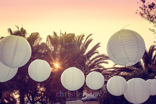 sunset white party