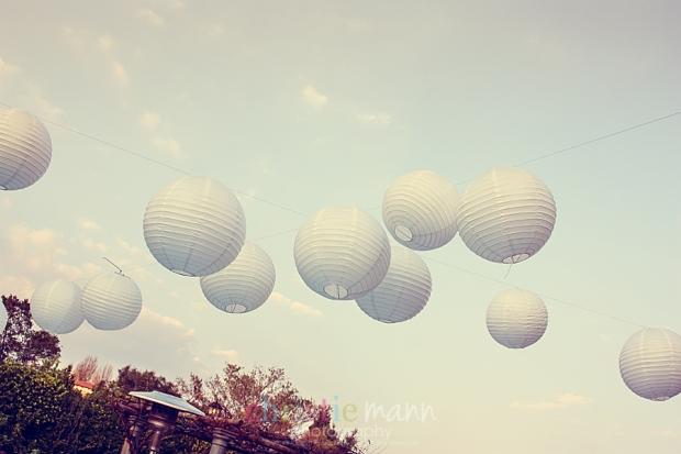 white lanterns birthday